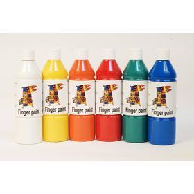 [NORDIC Brands] Fingerfärg 500mlx6 färger